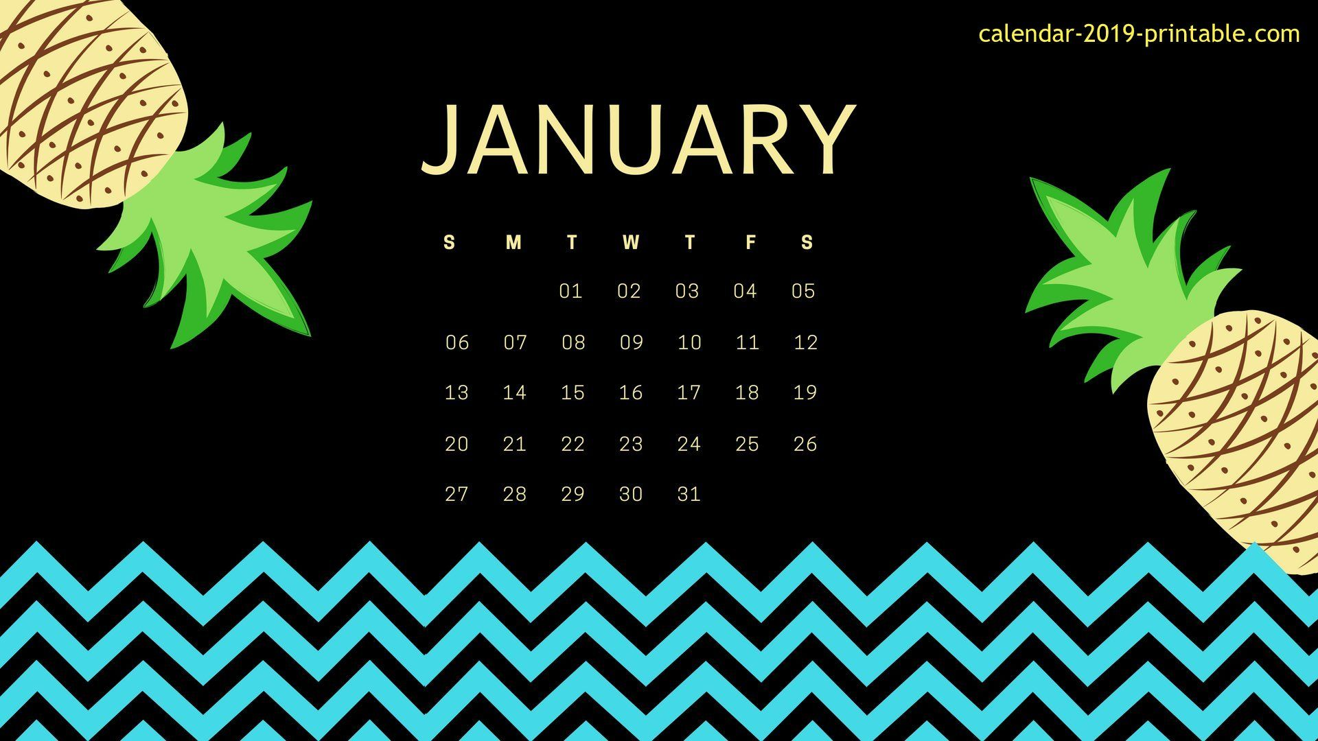 cute january 2019 calendar wallpaper Calendar wallpaper