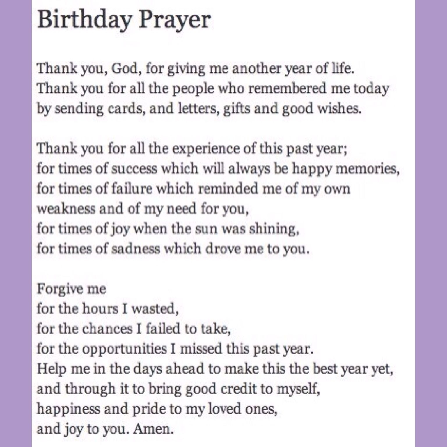 Blessed To Be Alive Another Year Birthday Prayer For Me Its My Quotes