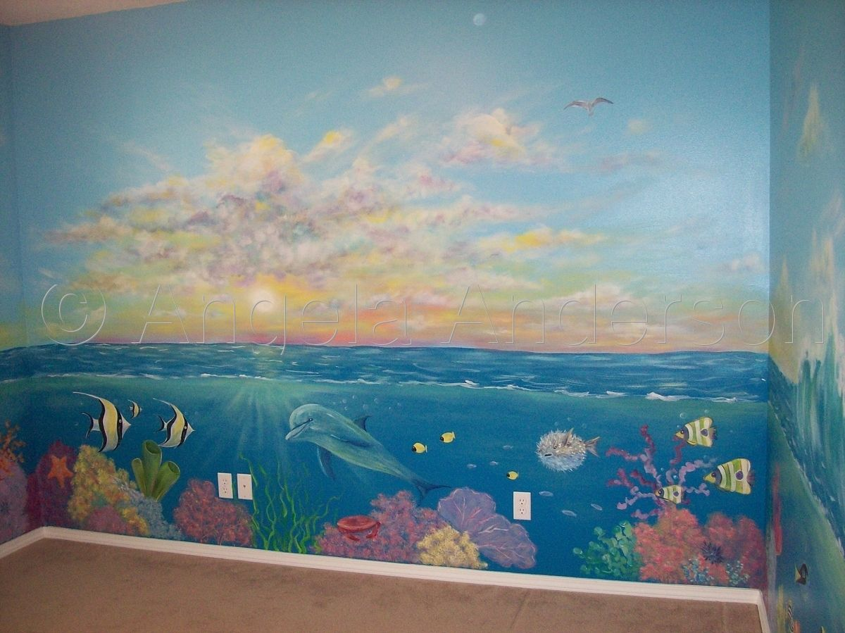 Under The Sea Mural By Angela Anderson In 2019 Sea