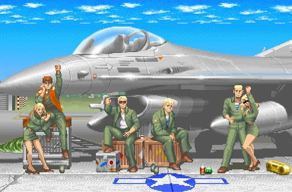 Poster Of Guile S Stage From Super Street Fighter Ii Street