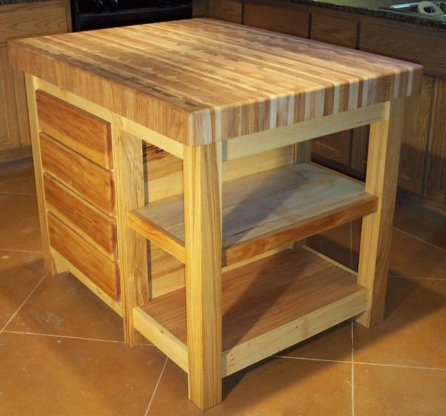 Buy Butcher Block Table Top: Traditional Kitchen Islands And Butcher Block Kitchen Cart