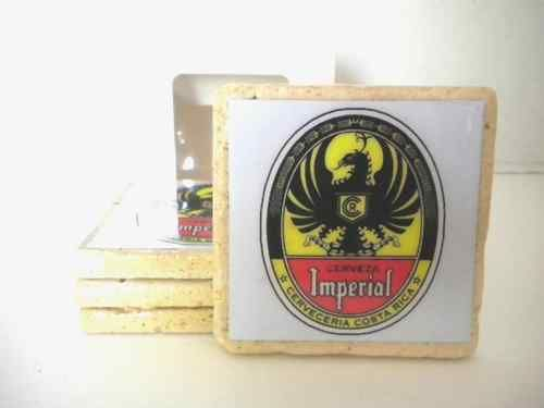 Tumbled marble hand made beer coasters.  A great gift $27.95