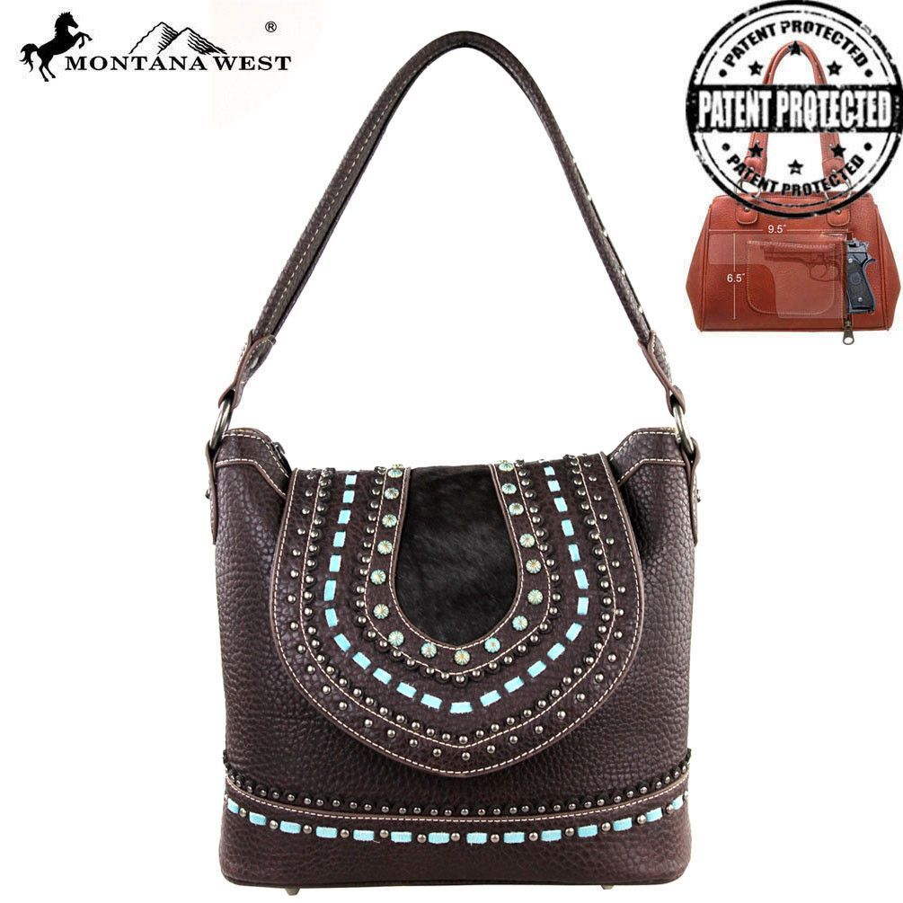 Made Of The Vegan Leather This Western Shoulder Bag Has Faux Pony