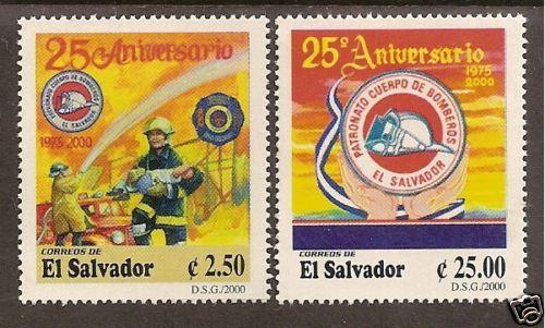EL Salvador 2000 Fire Fighting 25th Anniversary 2V MNH   eBay