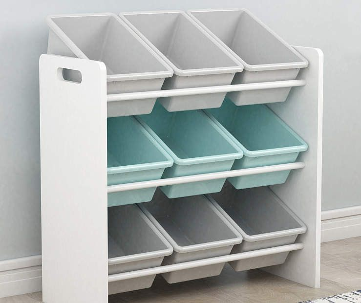 Dream Street Kids White 3 Tier Toy Organizer with 9 Bins - Big Lots