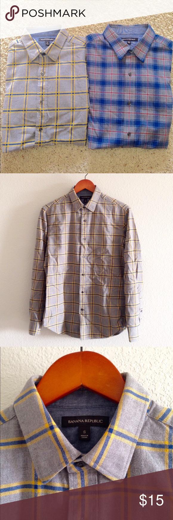 Orange flannel jacket  Banana Republic Bundle  Mens Flannel Shirts  Flannel shirts Blue
