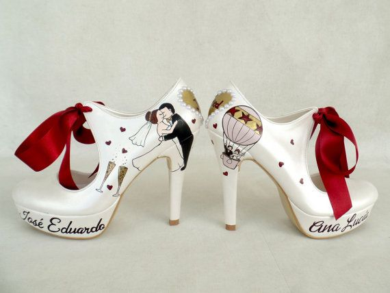 Wedding Shoes Handpainted Customized by KUKLAfashiondesign