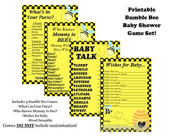 Bumble Bee Baby Shower Game Mommy To Theme By BabyShowerBakery 550