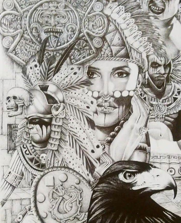 Aztec Prison Art Drawings