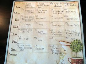 As promised, today I'm going to tell you how I menu plan for a month. It's really no different than planning for a week, except that you ne...