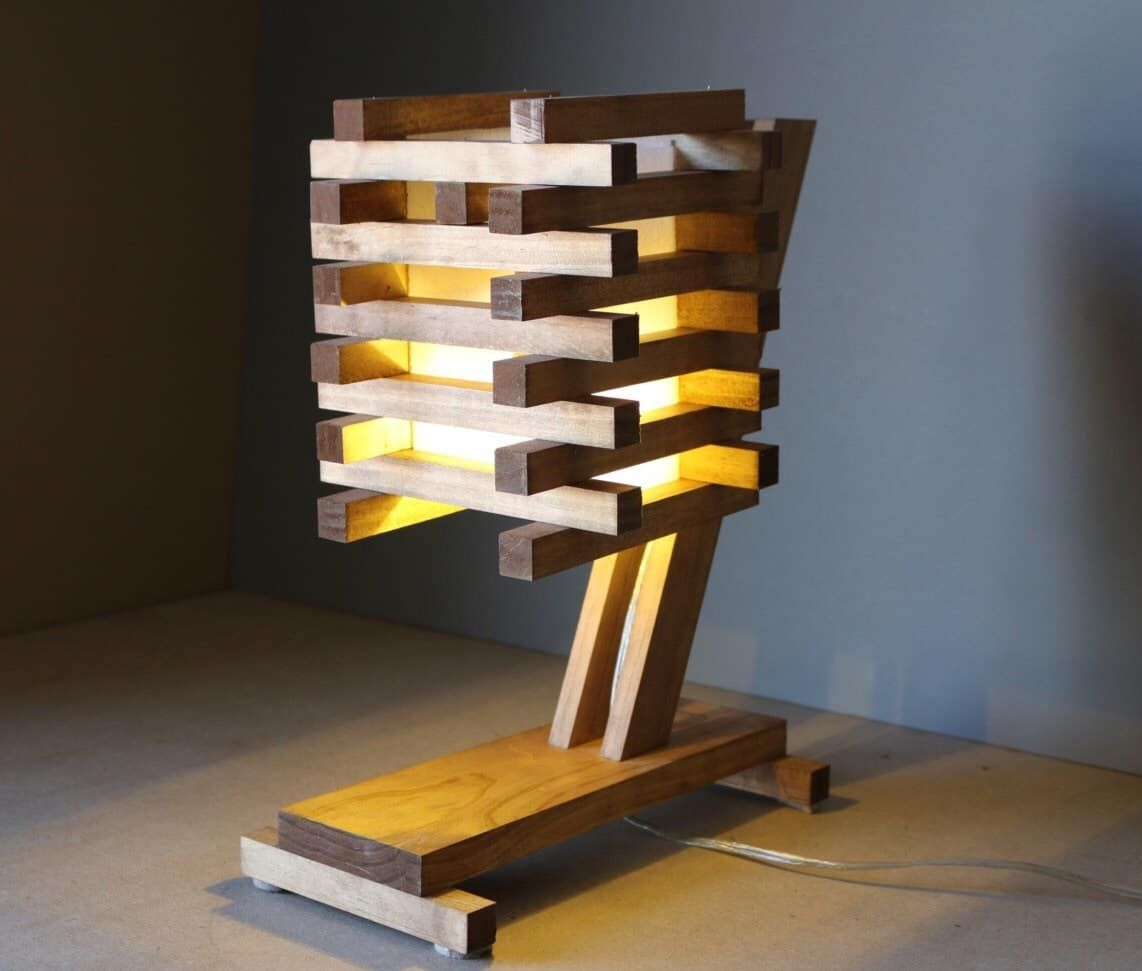 10 Inventive Ideas Of Wood Pallet Lamps Id Lights Wooden Lamp