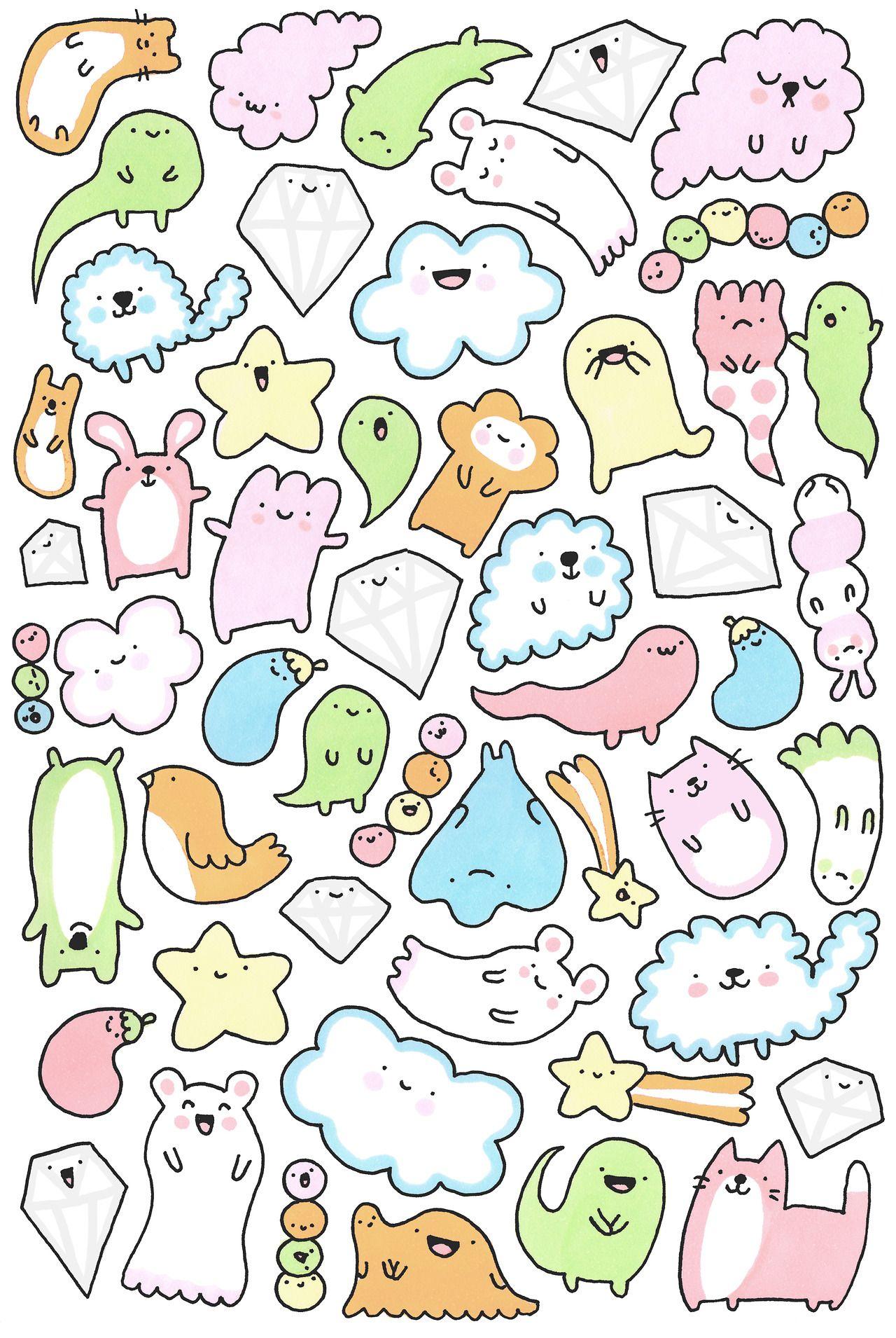 キラキラ DOODLES DOODLE Pinterest Doodles, Kawaii and