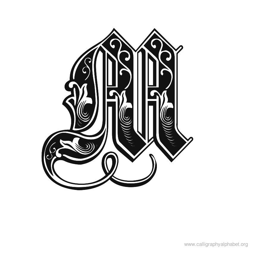 Letter M Designs Celtic