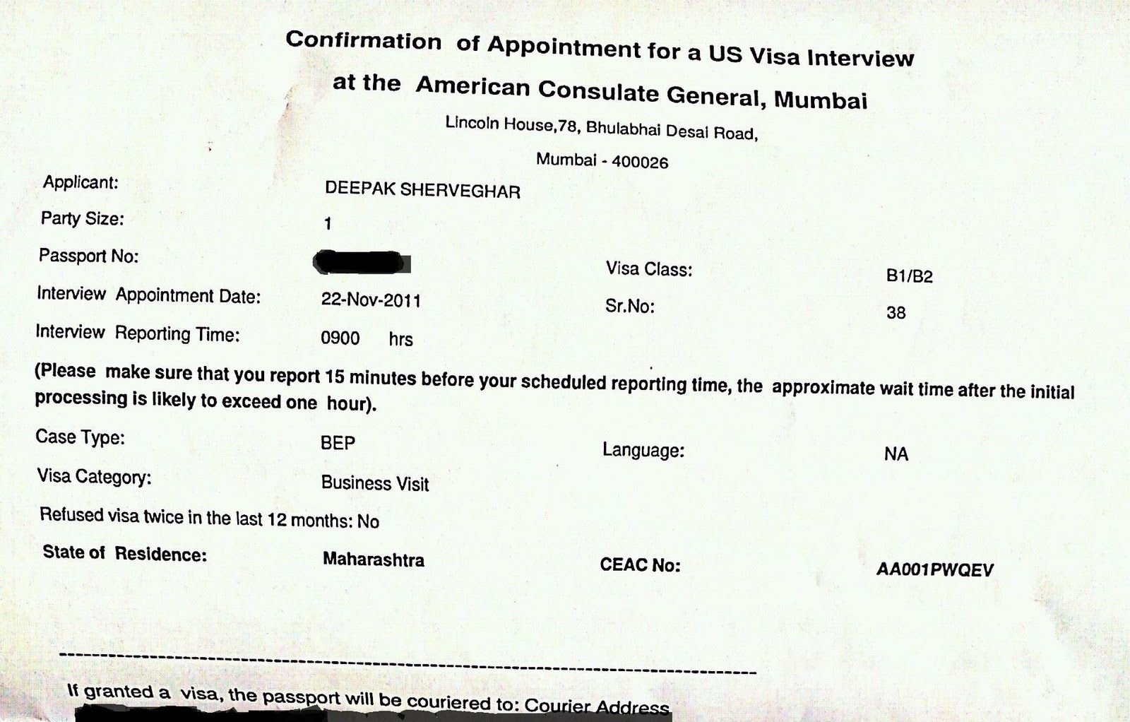 Passport Confirmation Appointment Letter Invitation Sample