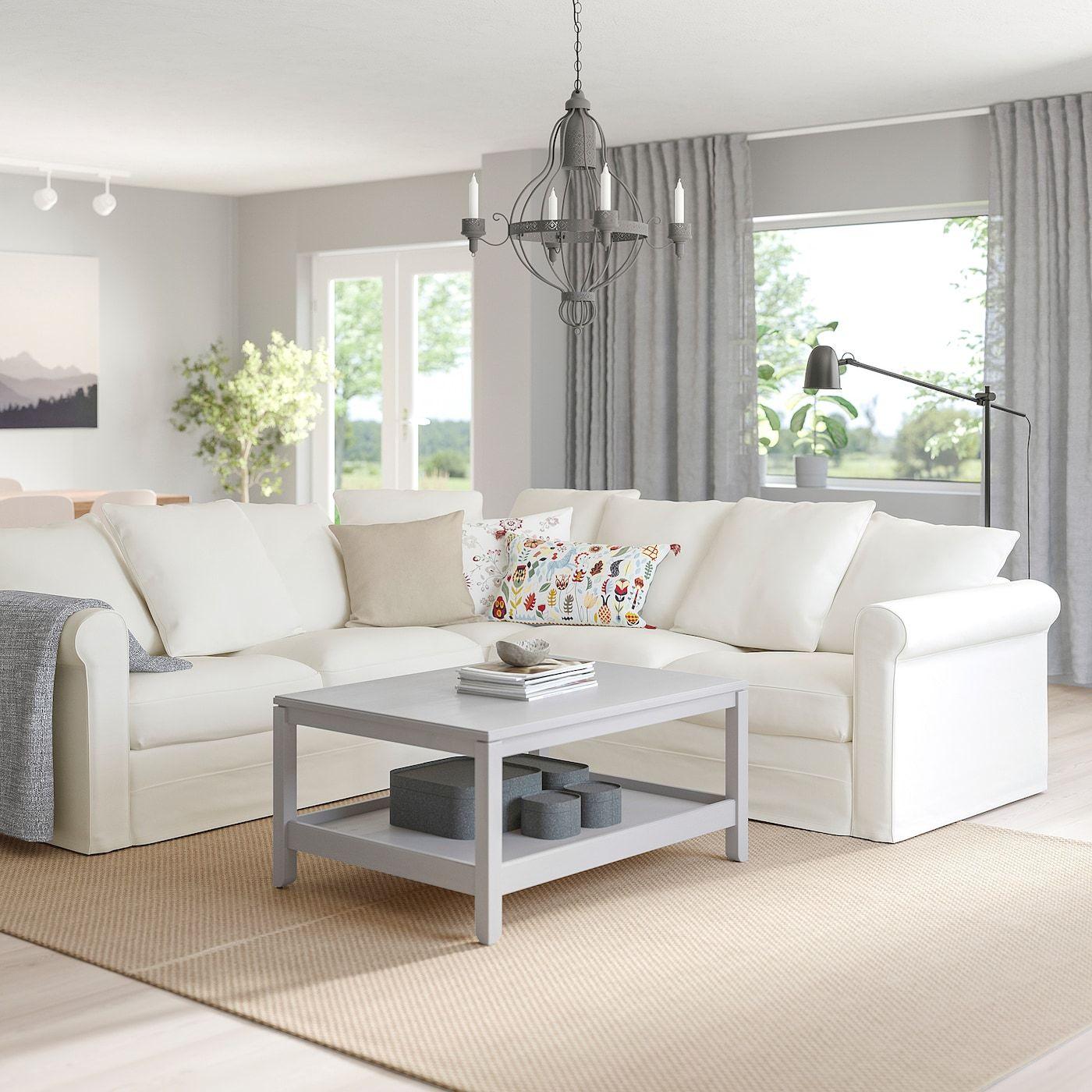 GRÖNLID Inseros white, 3 seat sofa IKEA