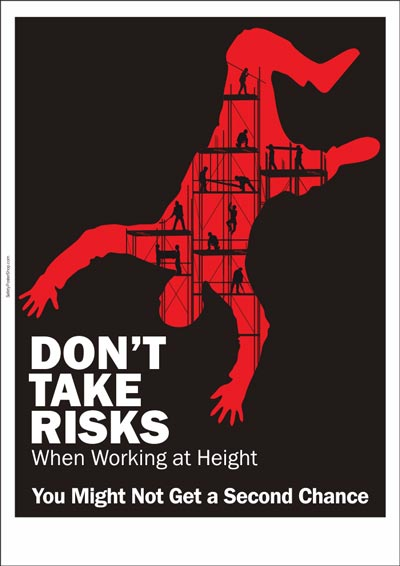 Safety poster Don't Take Risks Safety Poster Shop in