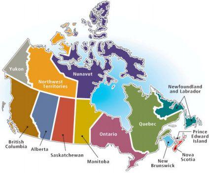 Map De Canada En Francais Le français au Canada   French listening comprehension | Canada