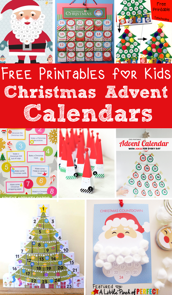 13 free printable christmas advent calendars for kids: easy to