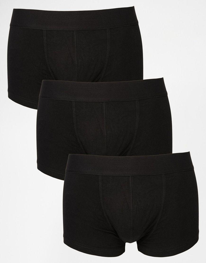 Hipsters von ASOS weicher, elastischer Jersey elastischer Bund figurbetontes Design Maschinenwäsche 94% Baumwolle, 6% Elastan Dreierset