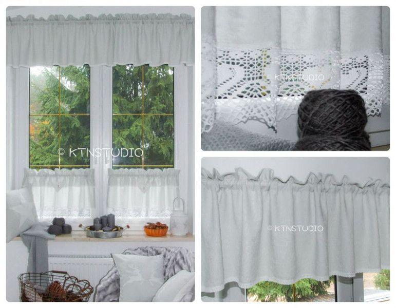 gardinen set 3 tlg k che zart grau m von ktn studio auf. Black Bedroom Furniture Sets. Home Design Ideas