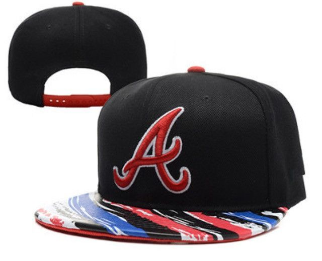 87d9a740d200d9 Atlanta Braves 'Wavy' Snapback Atlanta Braves Hat, Mlb Baseball Caps, Color  Stripes