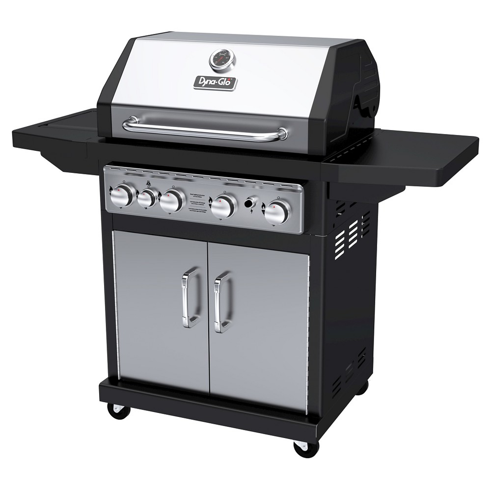 Dyna Glo 4 Burner Propane Gas Grill With Side Burner Silver Best Gas Grills Gas Grill Propane Gas Grill Propane grill with side burner