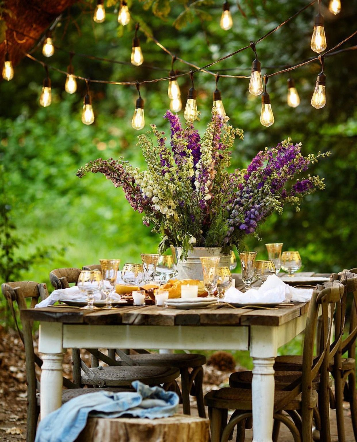 8 CHARMING OUTDOOR PARTY DECORATION IDEAS   Backyard party ...