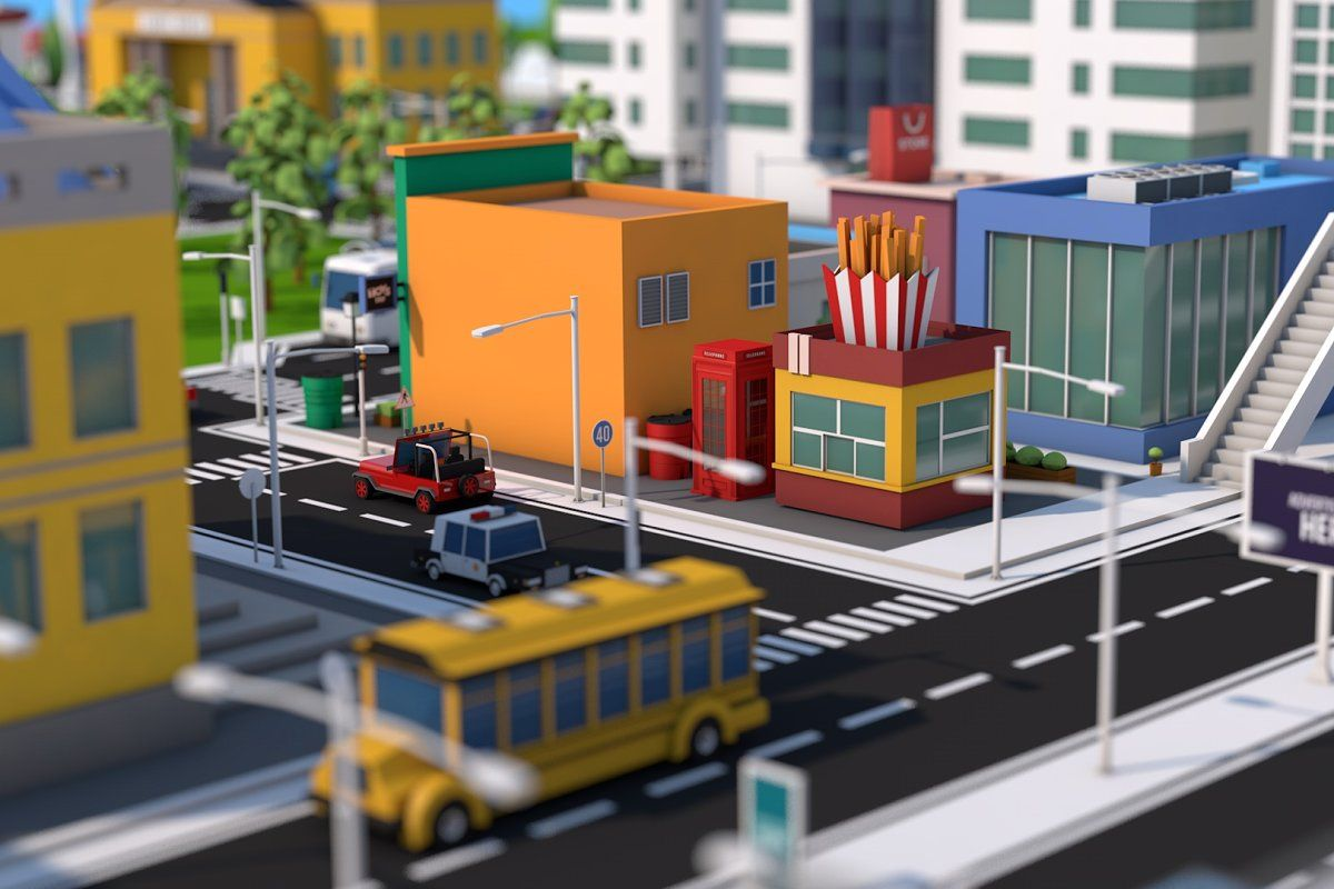 Low Poly City Mega Pack v3.0 in 2020 Modular structure