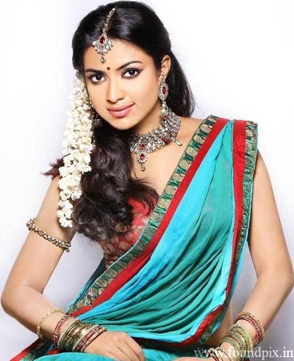 Amala Paul Homely In Sareee #AmalaPaul #TamilActress