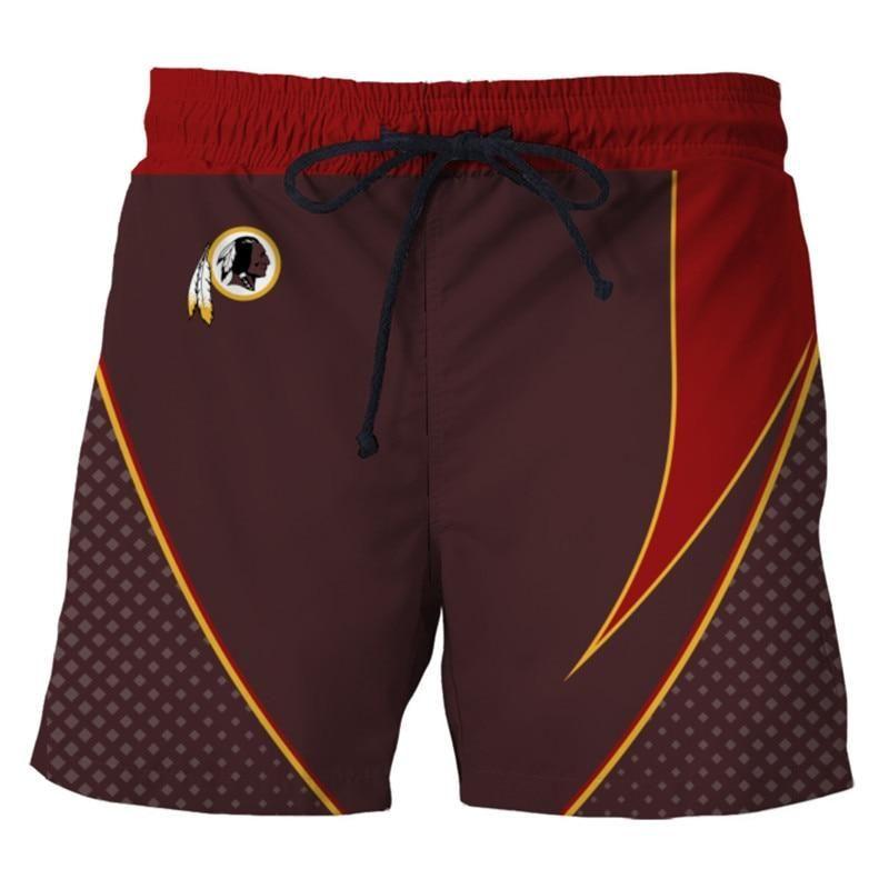 6a30458fb0 NFL Washington Redskins Team Logo Mens Summer Board Shorts Swimsuit – gear  sport shop Swimsuits,