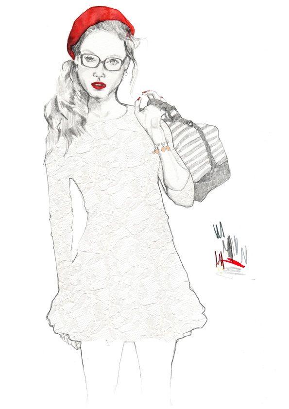 Adele.Fashion Illustrator.  Cardiff Fashion