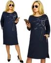 Elegancko Sportowa Sukienka Plus Size Kolory 48 52 Dresses For Work Fashion Shoulder Dress