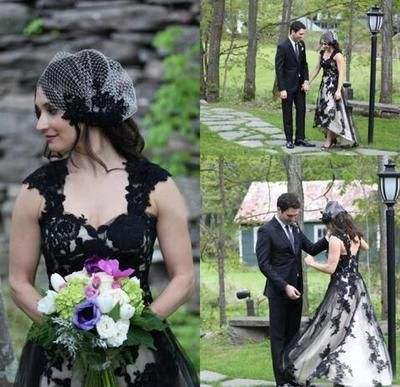 Gothic Plus Size Short Wedding Dress