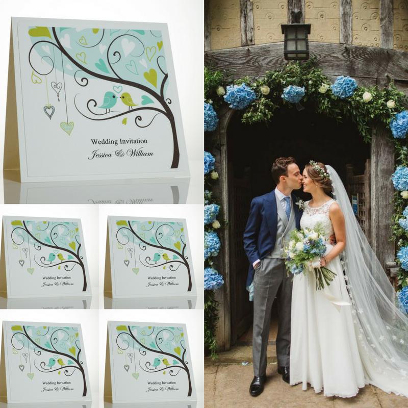 Romantic Love Bird Wedding Theme Wedding Invitations And Wedding