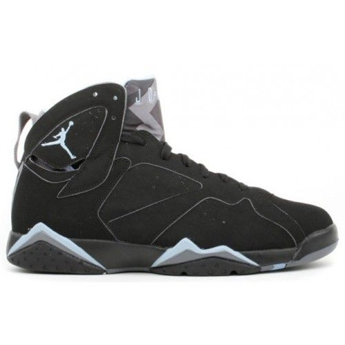 304775042 Air Jordan 7 VII Retro Black Chambray Light Graphite A07004