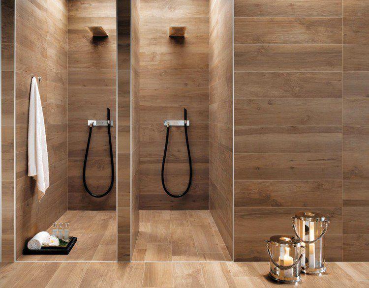 Carrelage salle de bain imitation bois – 34 idées modernes | Archi ...