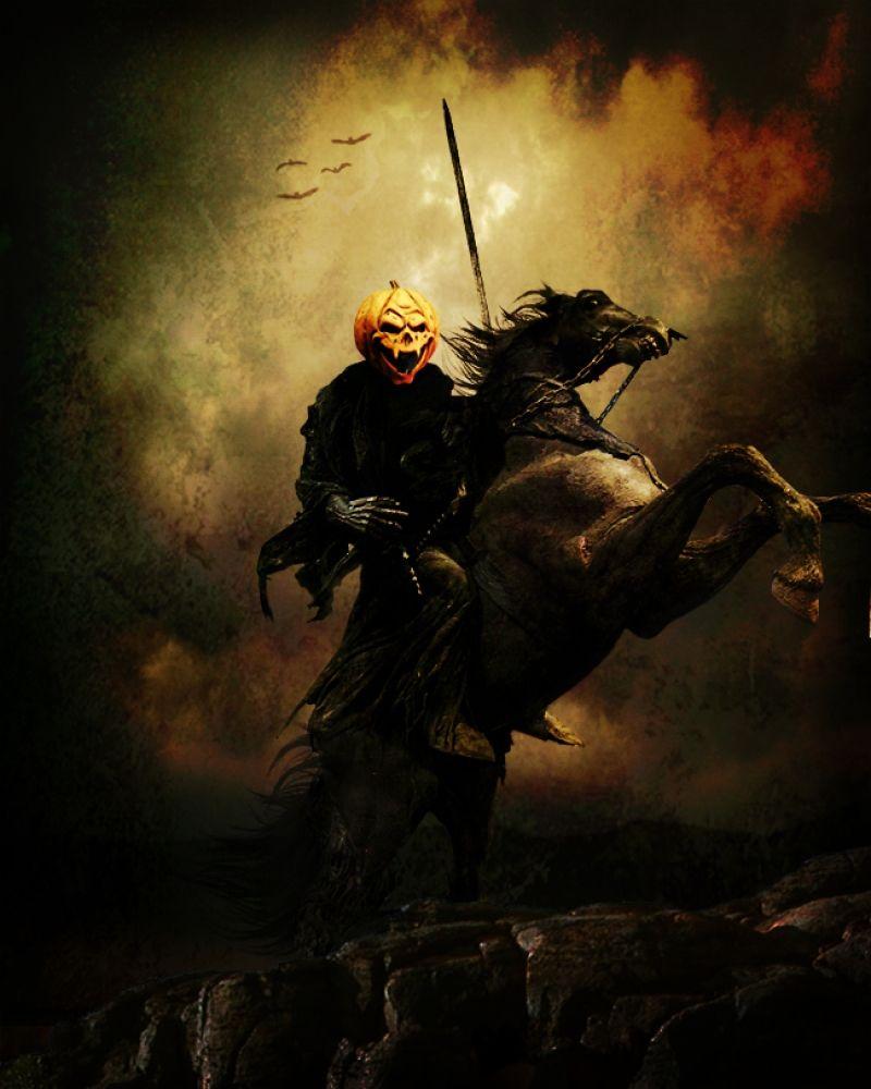 Automne Colors The Legend Of Sleepy Hollow Headless Horseman Halloween Pictures Halloween Art