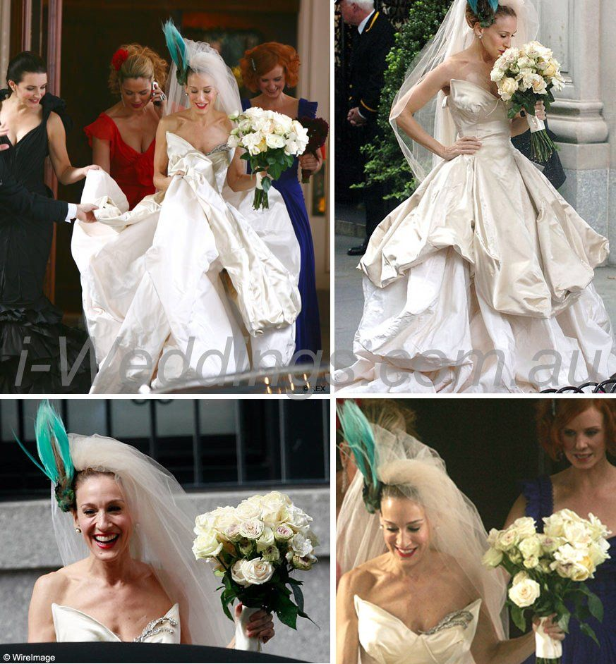 Carrie Bradshaw S Wedding Bouquet Bridal Style Wedding Dresses