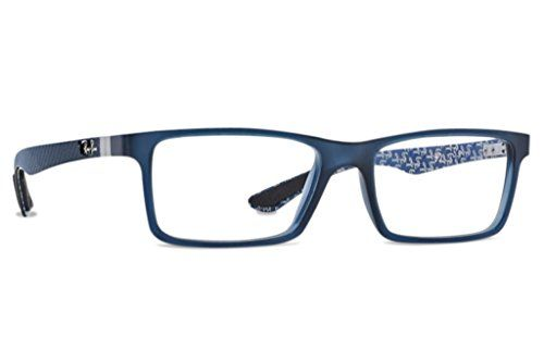 af6e41ad2a7 RayBan RX8901 Carbon Eyeglasses5262 BlueBlue Texture55mm -- More info could  be found at the image