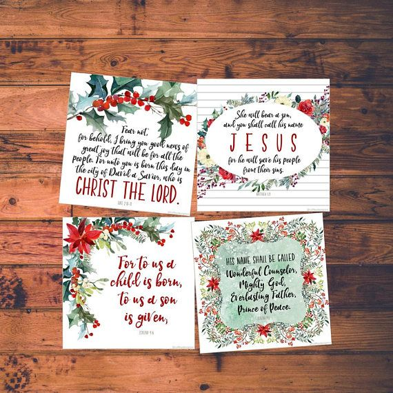 printable esv christmas scripture cards bible verse - Christmas Card Scripture