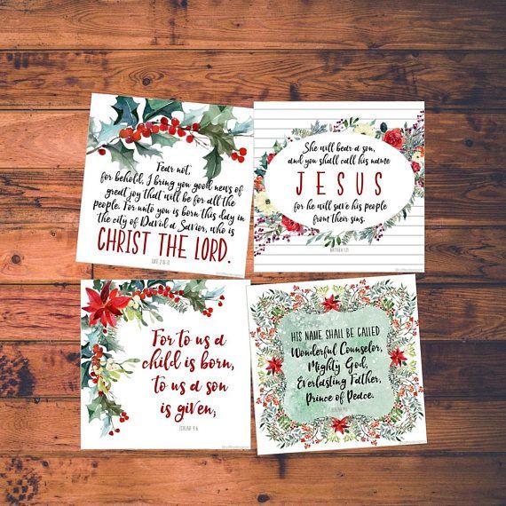 printable esv christmas scripture cards bible verse - Christmas Scripture For Cards