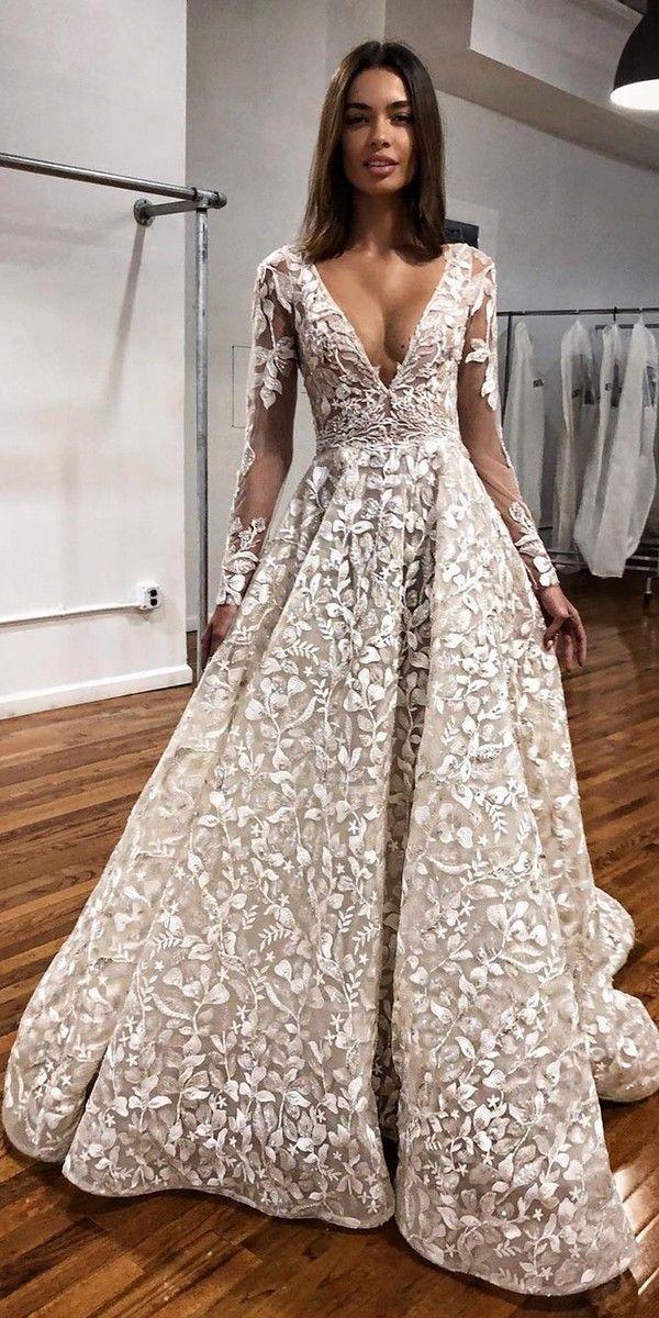 Long Sleeves V neck Wedding Dresses berta Best wedding