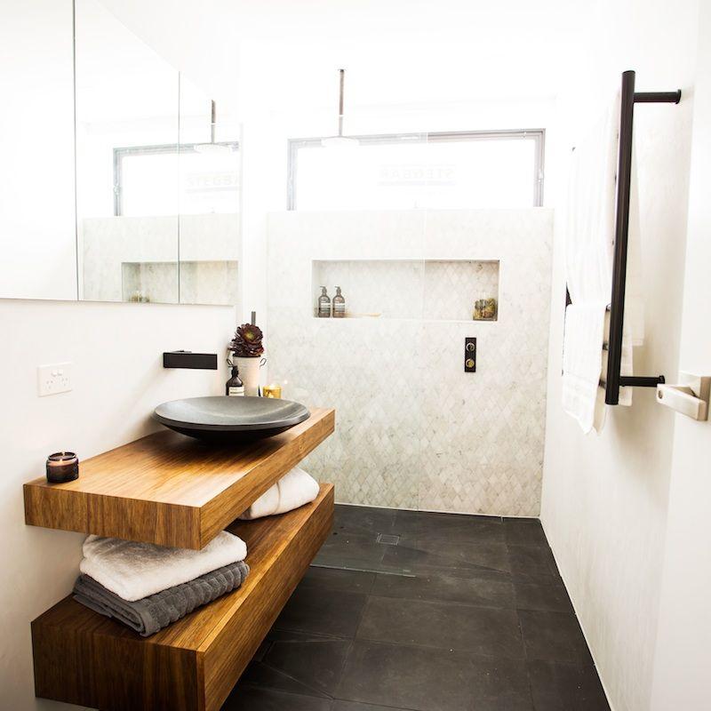 Tim and Anastasia Room Reveal 2 Main BathroomThe Block Shop