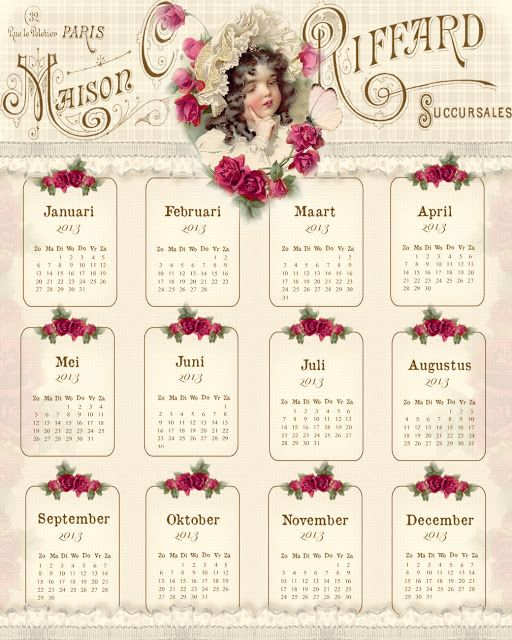 Kalender 2013-please check out these beautiful calendars for 2013 that Janet created.  OMG...Amazing!