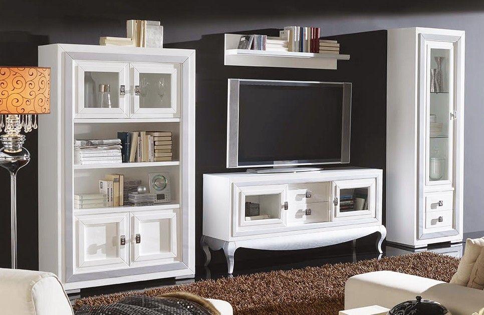 Mueble De Salon Con Vitrina Y Mueble Television Pino Muebles Salon Muebles Para Tv Y Muebles