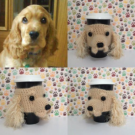 Crochet Kit, Crochet Spaniel Cup Cozy Pattern, Amigurumi Kit ...