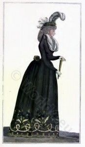 French fashion history 1793. France Directory dresses.