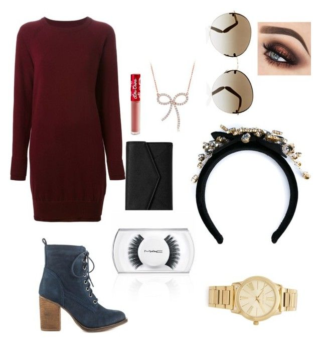 """""""Almonds"""" by honeybeagle on Polyvore featuring Maison Margiela, Steve Madden, LULUS, Lime Crime, MAC Cosmetics, Diana M. Jewels, Oliver Peoples, Anastasia Beverly Hills, Michael Kors and Dolce&Gabbana"""