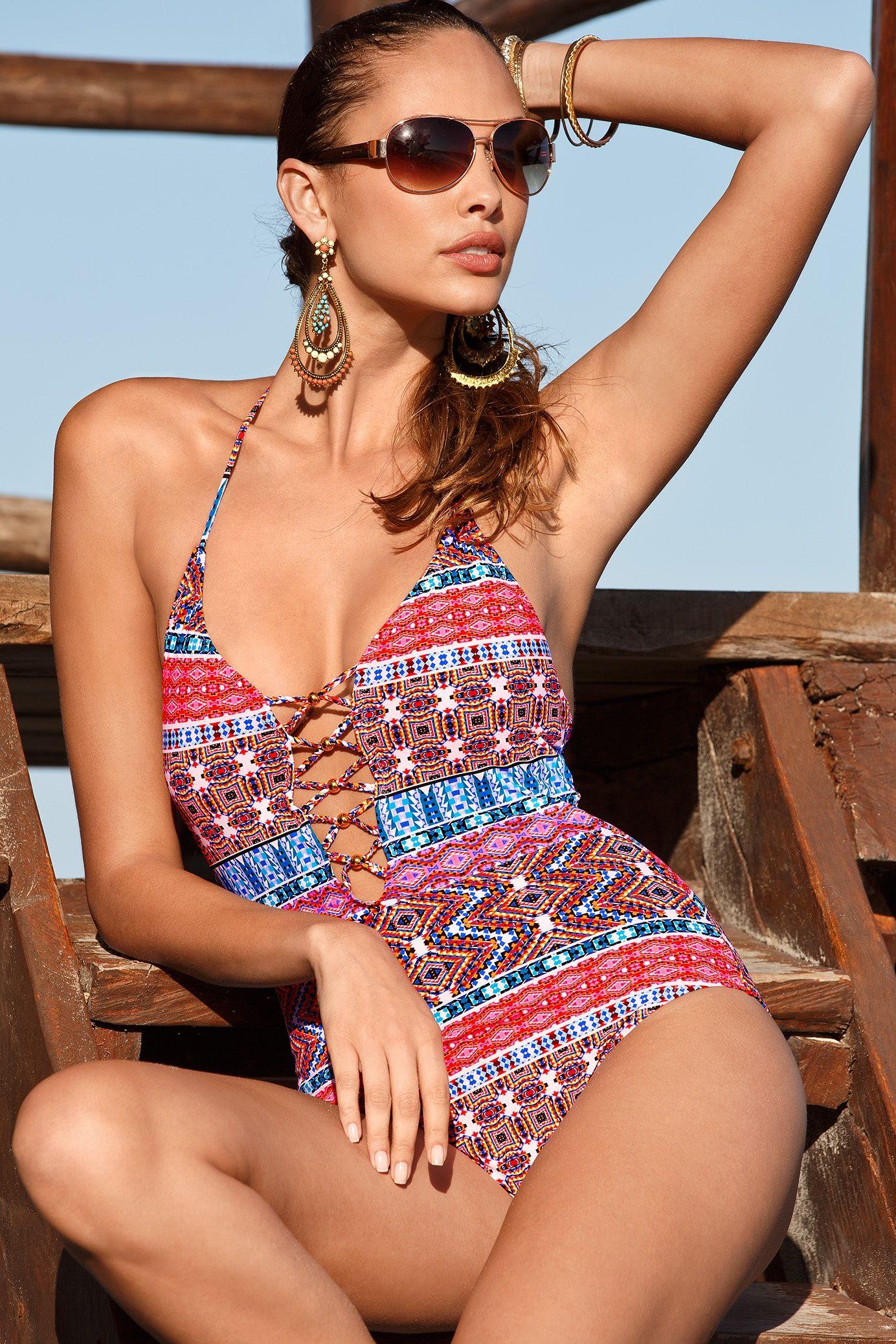 Boston Proper Ikat printed one-piece swimsuit   Cute one ...