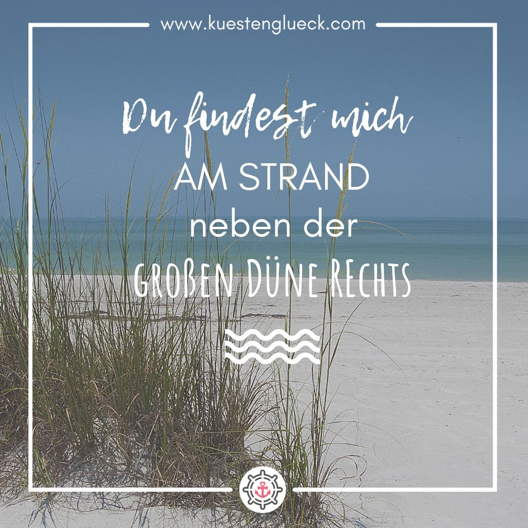 Photo of Du findest mich am Strand I Meer Spruch I